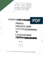 Normas Generales Redes Distribución CADAFE