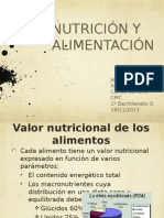 Nutrición y alimentación CMC