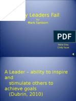 why leaders failc