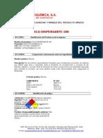 Msds Elq Dispersante 100