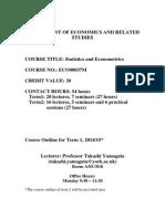 Courseoutline SE(ECO00037M) Term1 201415