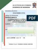 INGENIERÍA AMBIENTAL, ANÁLISIS DE PRODUCCIÓN DE RESIDUOS POR HABITANTE