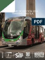 Informe de Gestion TransMilenio 2014 V2