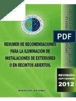 Resumen de Recomendaciones_indice 2012-Septiembre