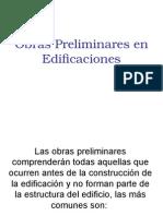 Obras Preliminares en Edificaciones