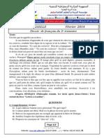Devoir Français 2014 2ASLLE T2