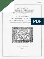 La Dignidad y La Miseria Del Hombre en El Pensamiento Europeo (Pindaro)