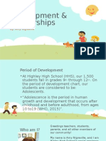 child development & partnerships