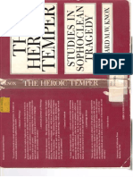 The Heroic Temper Bernard Knox