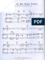 Ray Charles Drown in My Own Tears Piano Sheet Music