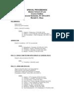 Special Proceedings Syllabus