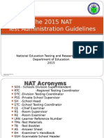2015 NAT Test Admin Guide