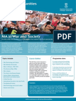 MA in War and Society