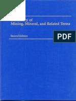 Diccionario de minería / Dictionary in Mining Minerals and Related Terms