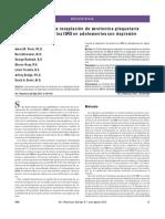 Inhibición de La Recaptación de Serotonina Plaquetaria y Respuesta de ISRS en Adolescentes Con Depresión