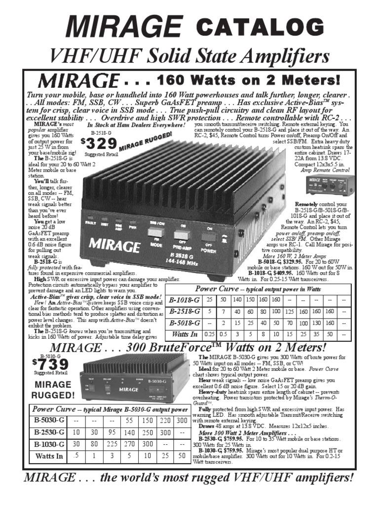 Mirage | Amplifier | Broadcasting