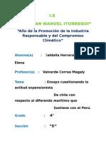 Ensayo. Cuestionando La Actitud Expansionista de Chile