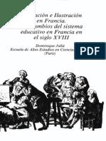 DOMINIQUE Juliá Los Cambios Del Sistema Educativo en Francia Siglo XVIII