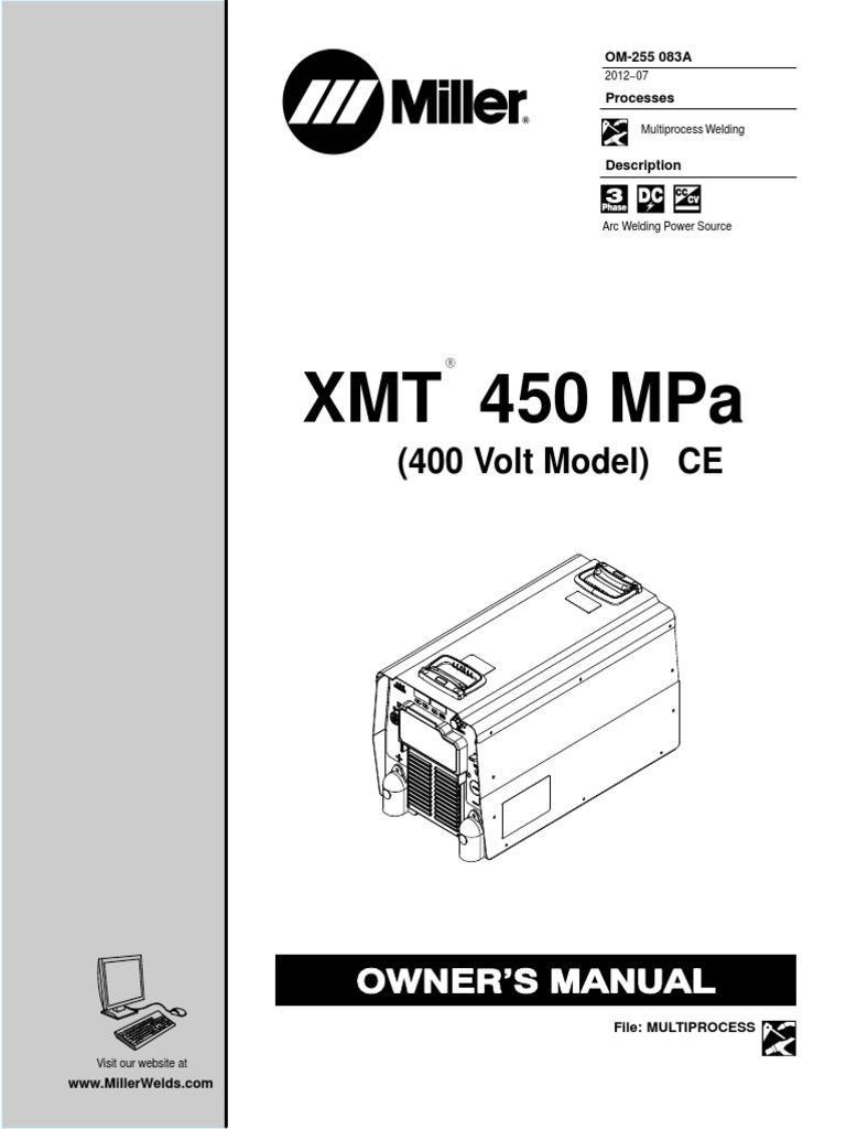 miller xmt 450 mpa user welding electrical wiring rh scribd com Miller 350 MXT Miller GMAW