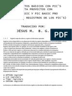 Registros de Pics (Option, I-o, Timer, Itcon)