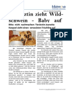 02a Texto Impreso - Tierärztin Zieht Wildschwein-Baby Auf – Noticia