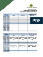 Horarios Dpto Idiomas I-2015