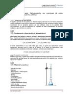 Titulacion de Acido Acetilsalicilico