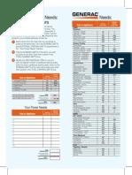 Portable Generator Wattage Chart