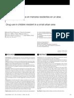 Consumo de Drogas en Menores Residentes en Un Área