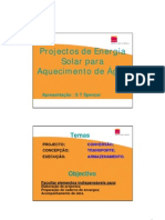 Projectos de Energia Solar Para Aquecimento De