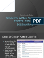 Creating Wings and Propellers in Solidworks