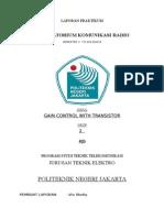 Laporan Gain Control With Transistor