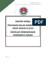Kertas Kerja Program Bimbingan Upsr 2015