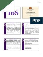 2012 Dda2132 Introduction to Ibs