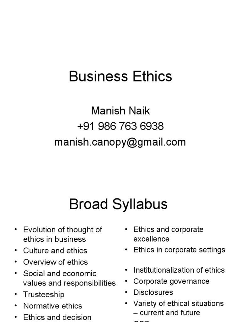 Business Ethics | Business Ethics | Value (Ethics)