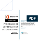 CIS - Programa Certificacion MOS 2013