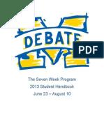 2013 UM Seven Week Student Booklet