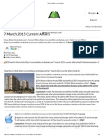 7 March 2015 Current Affairs