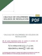 Calculo de Volúmenes de Solidos de Revolución