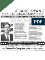 JAKE TOWNE - Express Times Ad Jan 2010