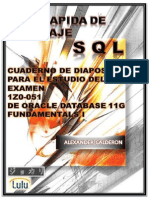 Guia Rapida de Lenguaje SQL Cuaderno de Diapositivas 1z0-051