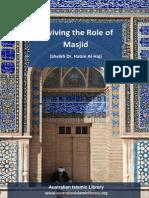 Reviving the Role of Masjid - Sheikh Hatim Al Haj
