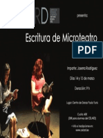 Cartel del taller de escritura de Microteatro del CELARD 2015
