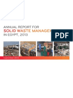 ANNUAL REPORT FOR SOLID WASTE MANAGEMENT IN EGYPT