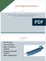 Finite Element Techniques in Ship Structural Design