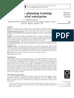Business Planning Training for Social Enterprise