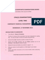 Cpa 12 Corporate Financial Management