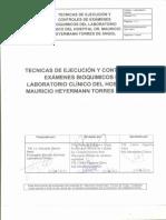 1ra Parte Tecnicas de Ejecucion y Controles Bioquimica