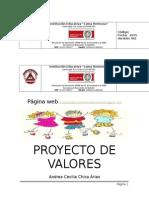 Proyecto de Valores 2015