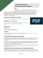 Charte Utilisation Page Facebook